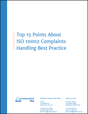 Complaint Handling Software