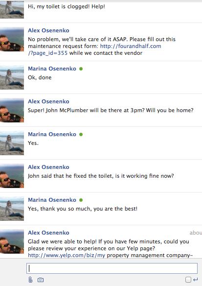 Customer relationship management,facebook messenger