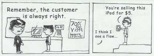 customer relationship management, complaints handling-Is the customer always right